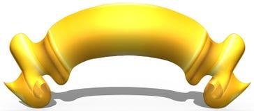 3D faborek lub sztandar royalty ilustracja