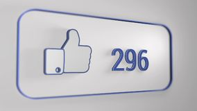 3d Facebook Like counter. Like counter, from 0 to 500, 5 sec