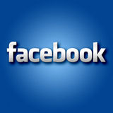 3D Facebook no fundo azul Imagem de Stock Royalty Free
