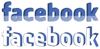 3D Facebook Social Media Logo Royalty Free Stock Photos