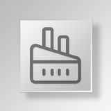 3D Factory Button Icon Concept Royalty Free Stock Photos
