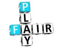 3D Fair Play Crossword text Stock Photography