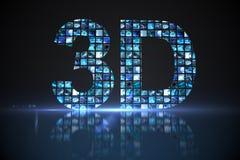 3D fait d'écrans numériques dans le bleu Images stock