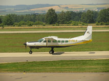D-Falk aircraft on the runway Stock Image