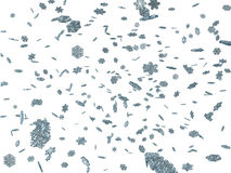 3D falling snowflakes. Winter background Royalty Free Stock Photo
