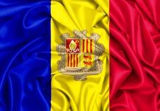 3d falowania flaga Andorra Obraz Stock