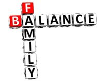 3D Family Balance Crossword. On white background Stock Image