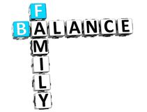 3D Family Balance Crossword. On white background Stock Images