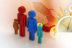 3d family Icon. In color background Royalty Free Stock Photos