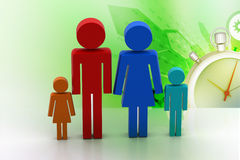 3d family Icon. In color background Royalty Free Stock Images