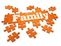 3d Family jigsaw puzzleq Stock Images