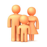 3D Family 1 Stock Photos