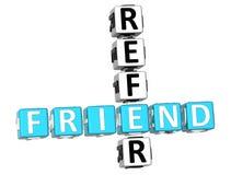 3D fanno riferimento le parole incrociate dell'amico illustrazione vettoriale