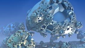 3D fantasie abstracte achtergrond, 3D illustratie Royalty-vrije Stock Foto's