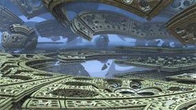 3D fantasie abstracte achtergrond van vreemde vormen Stock Foto