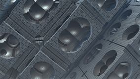 3D fantasy abstract background from strange shapes. 3D illustration Stock Photo