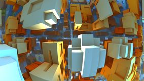 3D fantasy background, 3D illustration. 3D fantasy background from strange shapes, 3D illustration Stock Photo