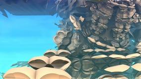 3D fantasy background from strange shapes Stock Photo