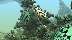 3D fantasy background from strange shapes. 3D illustration Stock Image