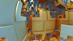 3D fantasy background. From strange shapes, 3D illustration Stock Photography