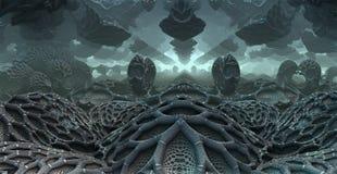 3D fantasy background from strange shapes. 3D illustration vector illustration