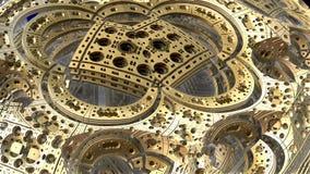 3D fantazi abstrakcjonistyczny tło od dziwacznych kształtów Fotografia Royalty Free