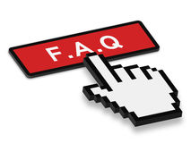 3D FAQ Concept. Vector illustration 3D FAQ concept. Isolated on white Royalty Free Stock Image