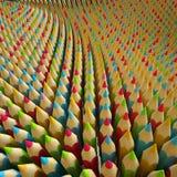 3d farbige Bleistifte, abstrakte digitale Illustration Stockbild