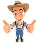3d farmer thumbs up Stock Photography