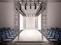 3d  fashion catwalk Stock Image