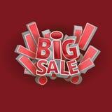 3d fasst großen Verkauf ab Stockbilder