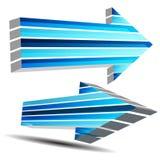 3D Fast Arrow. An image of a 3d fast moving arrow Stock Photos