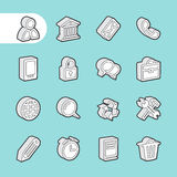 3D Fat Line Icons Stock Images