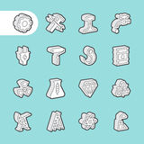 3D Fat Line Icons Royalty Free Stock Images