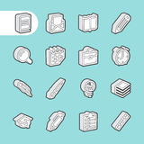 3D Fat Line Icons Stock Photo