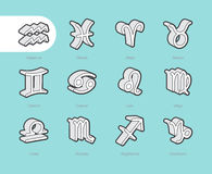 3D Fat Line Icons Royalty Free Stock Image