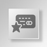 3D Favorite Card Button Icon Concept Stock Photography