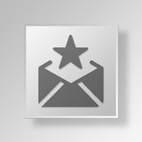 3D favorite email icon Business Concept Stock Photo