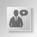 3D favourites icon Business Concept Royalty Free Stock Photography