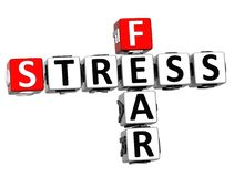 3D Fear Stress Crossword. On white background Stock Image