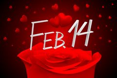 3D February 14 card Stock Images