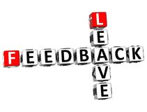 3D Feedback Leave Crossword. On white background Royalty Free Stock Photos