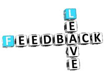 3D Feedback Leave Crossword. On white background Stock Photography