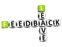 3D Feedback Leave Crossword. On white background Stock Photo