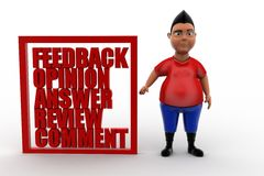 3d feedback opinion answers review comment Stock Image