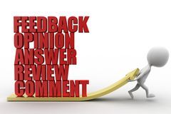3d feedback opinion answers review comment illustration Royalty Free Stock Photos