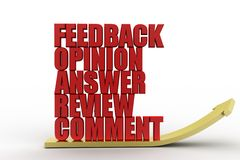 3d feedback opinion answers review comment illustration Royalty Free Stock Photo