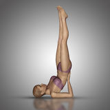 3D female figure in yoga position Stock Images