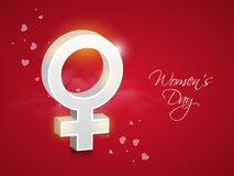 3D female symbol for International Womens Day celebration. Royalty Free Stock Images