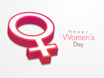 3D female symbol for International Womens Day celebration. Stock Photo